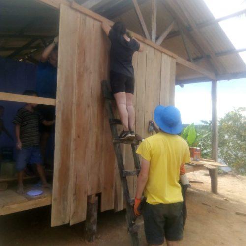 Estudantes canadenses inicio construcao11