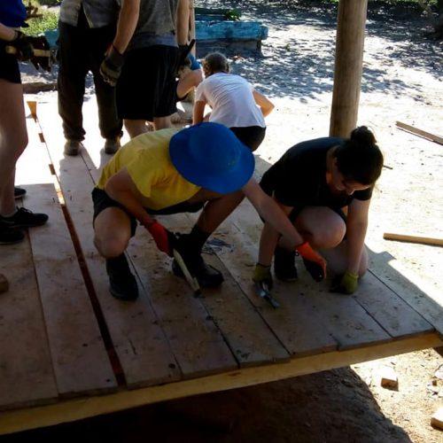 Estudantes canadenses inicio construcao5